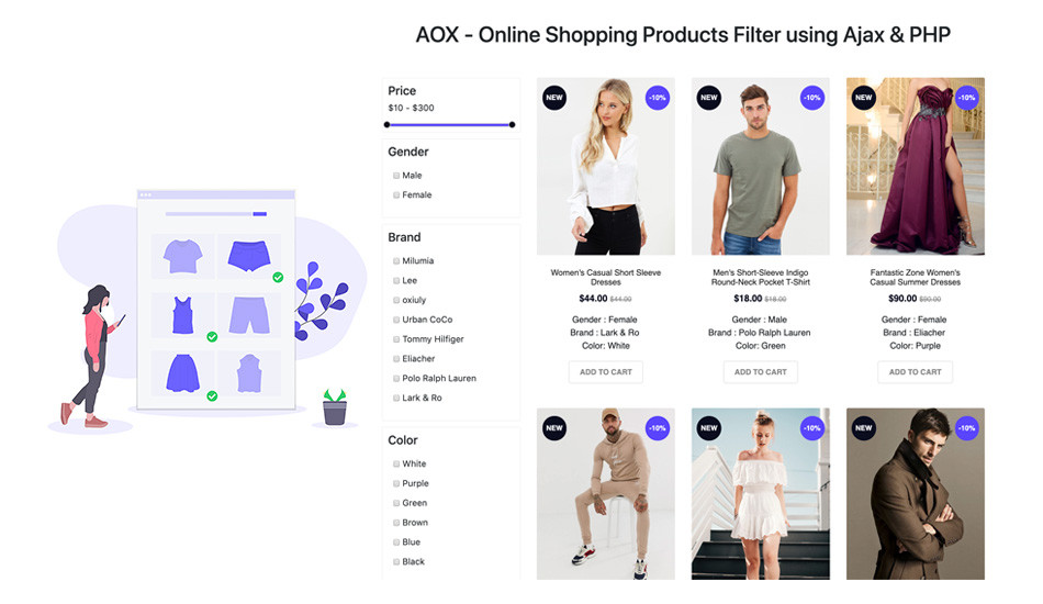 product filter and search app